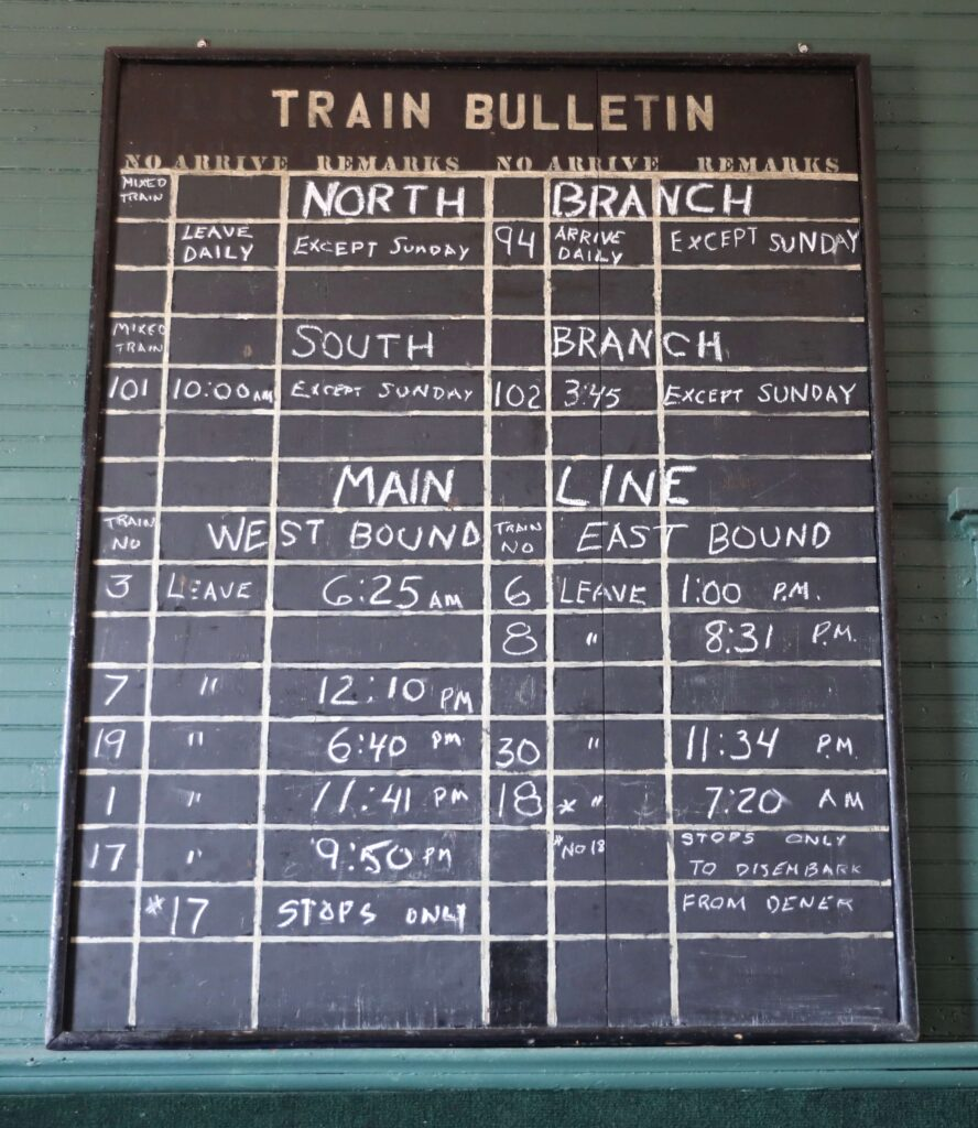 Historical Train Schedule
